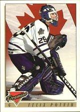 1993/1994 Topps Premier Felix Potvin #385 Toronto Maple Leafs Hockey Card