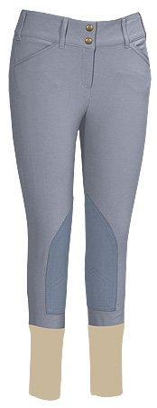 Ladies Cotton Knee Patch Breeches - 3