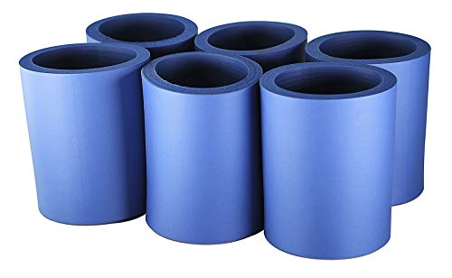 Pinnacle Mercantile Beer Can Coolers Thick Insulators Foam Non-Collapsible Royal Blue Set 6 -