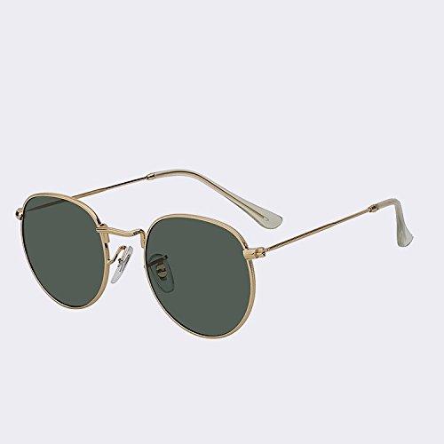 TIANLIANG04 Shaed Miroir ovale objectif en métal Lunettes de soleil femme Lunettes de soleil pour homme rétro vintage Luxe Oculos Qualité UV400, Black w black