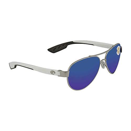 Costa del Mar Loreto Sunglasses Palladium w/White/Blue Mirror 580Plastic (Costa Del Mar Palladium)
