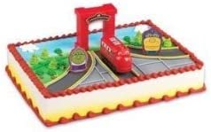 Superb Amazon Com Chuggington Birthday Cake Topper Kit Toys Games Funny Birthday Cards Online Overcheapnameinfo