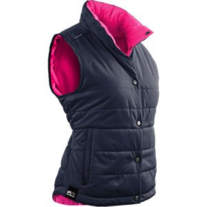 Sun Mountain 2017 Women's Alpine Vest (Navy-Pink, Medium)