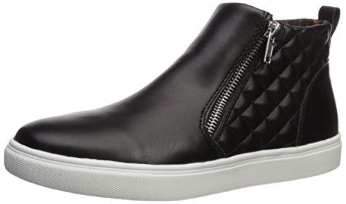 Steve Madden Girls' JREGGIE Sneaker, Black, 5 M US Big Kid (Steve Madden Leather High Tops)