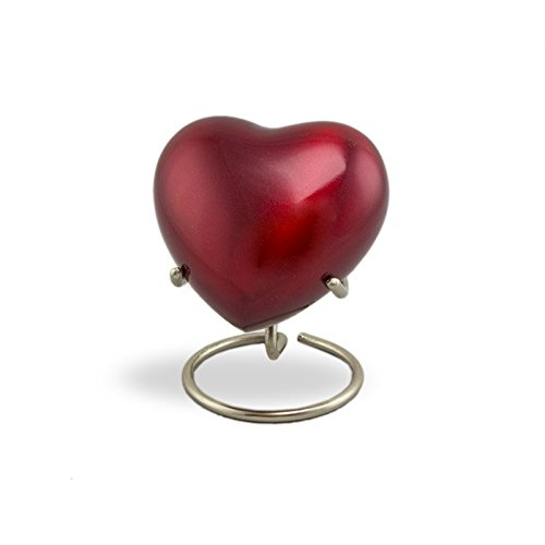 OneWorld Memorials Trinity Crimson Bronze Keepsake Urns - Extra Small - Holds Up To 3 Cubic Inches of Ashes - Crimson Red Cremation Urn for Ashes - Engraving Sold Separately - Bronze Small Urn