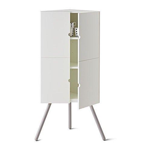 IKEA PS 2014 Eckschrank In Weiss 47x110cm Amazonde Kuche Haushalt