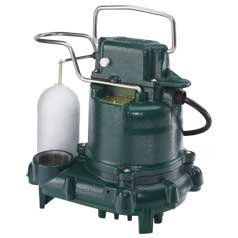 Zoeller E53 Mighty Mate Iron Body Poly Base Non-auto Requires Float Switch Sump Pump 230V 13 HP