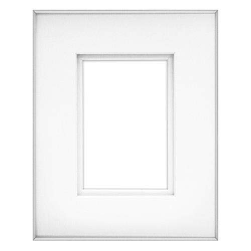 "Fineline Picture Frame Color: Silver, Size: 11"" x 14"" Frame/8"" x 10"" Mat -  Framatic, F1114SX27"