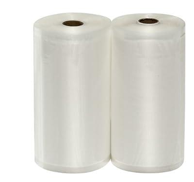 "2 Large 8"" X 50' Vacuum Sealer Rolls Commercial Grade Vacuum Sealer Bags"