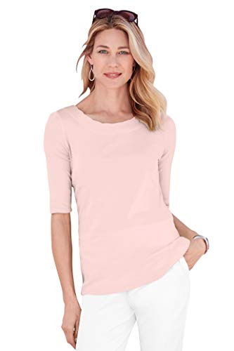 Chadwicks Baby Rib Knit Scalloped Elbow Sleeve ()