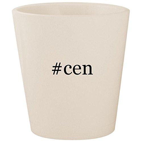 #cen - White Hashtag Ceramic 1.5oz Shot Glass