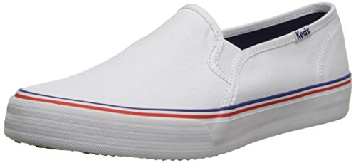 Keds Women's Double Decker Slip-On Sneaker, White, 8.5 M US ()