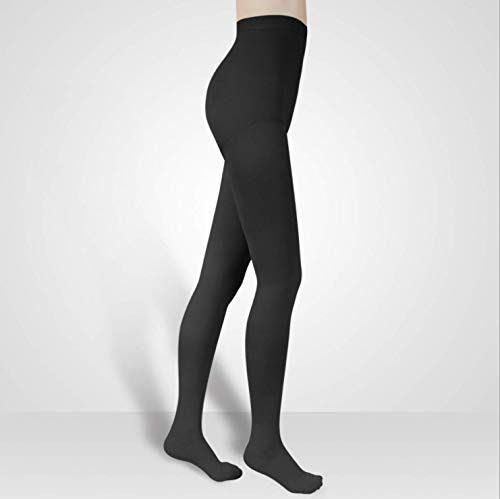 Pantyhose Compression Stockings 20-30mmHg Relief Medical Supports Socks Close Toe Women Leggings Therapy Varicose Veins (Black, M)