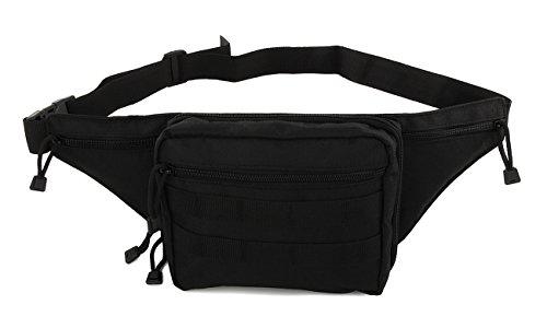 UPC 709317396218, Mens Large Black Gun Pistol Pouch Carry Concealment Concealed Tactical Molle Nylon Fanny Pack