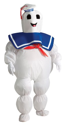 Marshmallow Halloween Costumes (Ghostbusters Child's Inflatable Stay Puft Marshmallow Man Costume)