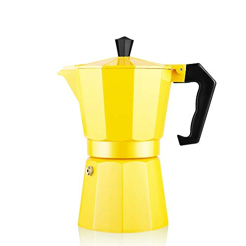 Coffee Pot Espresso Maker Stovetop Ercolator Italian Classic Cafe Maker Made of Stainless Steel Suitable for Induction Cookers