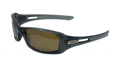 Revo Red Point Sunglasses Crystal Black/Brown Frame Graphite Lens ()