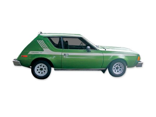 1975 1976 AMC American Motors Gremlin X Decals & Stripes Kit - Black