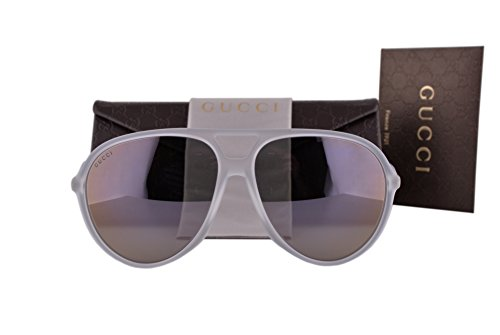 Gucci GG1090/S Sunglasses Crystal w/Gray Lens CRAIH GG - 62mm Gucci Sunglasses Retro