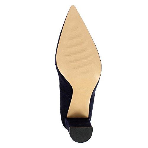 Evita Shoes Jessica Damen Pumps Rauleder Dunkelblau