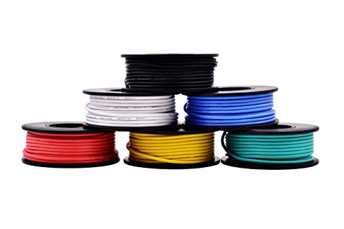 22AWG Silicone Hook Up Wire 22 Gauge Stranded conserves de fil de cuivre avec silicone