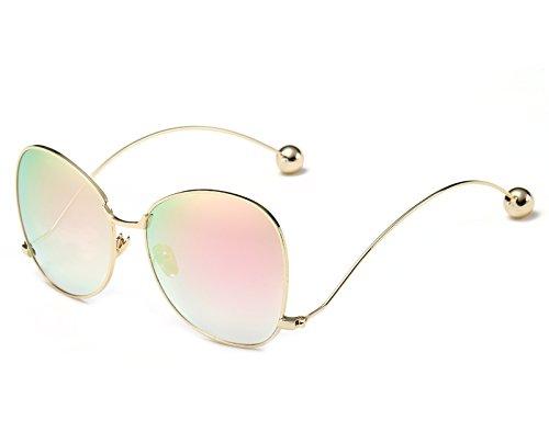 Modo KXLEB Runde Sonnenbrillen Rosa Frauen Frauen Sonnenbrille Claro Metallrahmen Übergroßen Marron Lente Degradado Brillen Markendesigner Schmetterling Für dFqwFHrWU