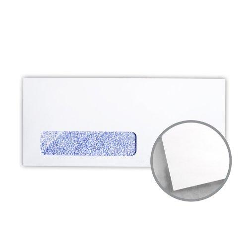 Printmaster White w/Blue Security Tint Envelopes - No. 10 Window (4 1/8 x 9 1/2) 24 lb Writing Wove 2500 per Carton by National Envelope Printmaster