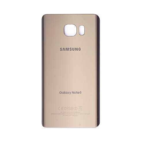 VANYUST Replacement for Back Glass Cover Battery Door Compatible for Samsung Galaxy Note 5 (Gold)