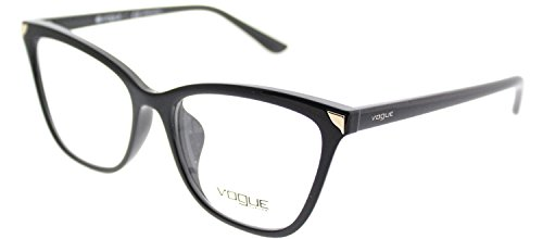 Vogue Asian Fit VO 5206F W44 Black Plastic Cat-Eye Eyeglasses - Vogue Eyeglasses Womens
