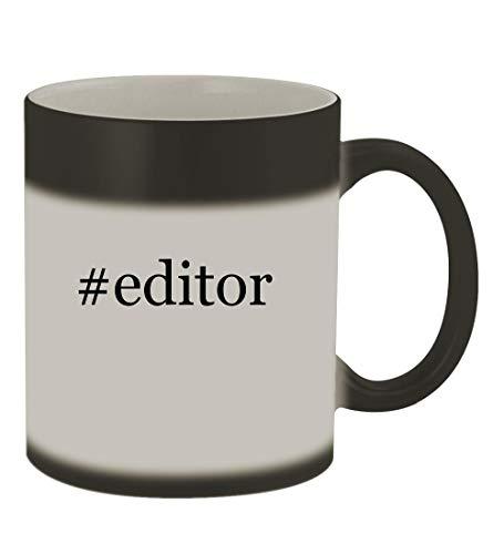 #editor - 11oz Color Changing Hashtag Sturdy Ceramic Coffee Cup Mug, Matte Black (Best Id3 Tag Editor)