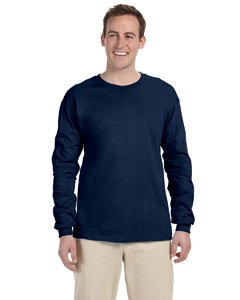 Fruit of the Loom Adult 5 oz. Long-Sleeve T-Shirt, J. Navy, M