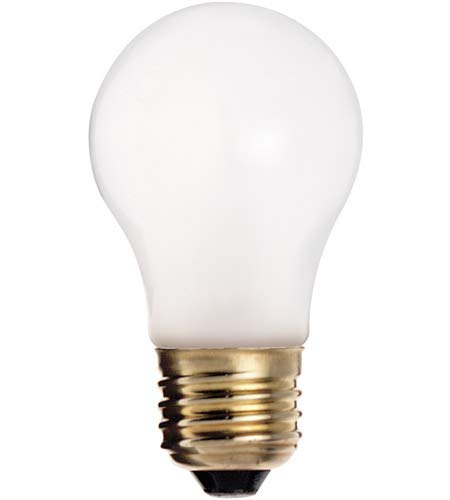 Satco S8523 60 watt A15 Incandescent; Frosted; 2500 Average Rated Hours; 570 lumens; Medium Base; 130 Volts; 4-Pack
