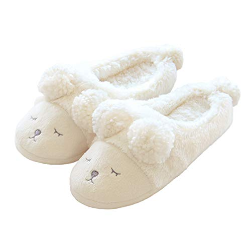 bestfur Women's Cute Soft Sole Cozy Fleece Plush House Slippers Home Shoes