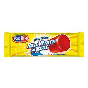 Ice Popsicle Cream - Unilever Popsicle, Big Stick Red White & Blue 3.5 oz. (24 count)