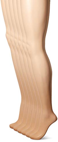 - Hanes Silk Reflections Women's Control Top Pantyhose 6-Pack, little color, EF