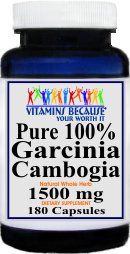 #1 Best VALUE 1500mg ALL Natural Garcinia Cambogia-180 CAPSULES!!