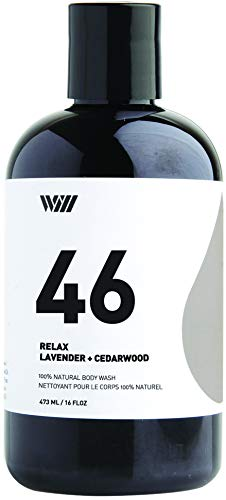 Way Of Will 46 Cleansing Body Wash, Shower Gel, Natural Organic and Suitable for All type of Skin for Men and Women 473 ML / 16 FL OZ Relax (Lavender + Cedar Wood)