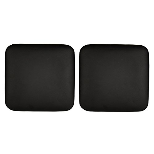 10.2 Inches PU leather Chair Cushion Chair Pads for Metal barstools, Easy installation, Fixed with 2 Nuts, Black