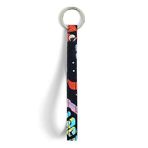 Vera Bradley Iconic in The Loop Keychain, Signature Cotton, Butterfly Flutter