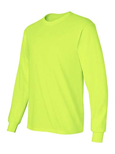 Gildan 2400 - Classic Fit Adult Long Sleeve T-shirt Ultra Cotton - First Quality - Safety Green - X-Large