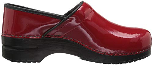 Wide Red Pro Clog Sanita Original Women's Patent wOFqxP7I