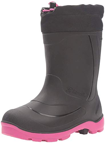 Kamik Girls' Snobuster1 Snow Boot, Black/Magenta, 13 Medium US Little Kid
