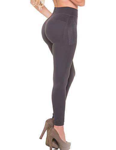 Aranza Butt Lifting Capri Leggings   Strong Compression Push Up Bands Azucena Burgundy Medium