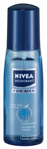 Fresh Active Deo Spray For Men (Glass Bottle) 75ml spray by Nivea (Deo Fresh Spray)
