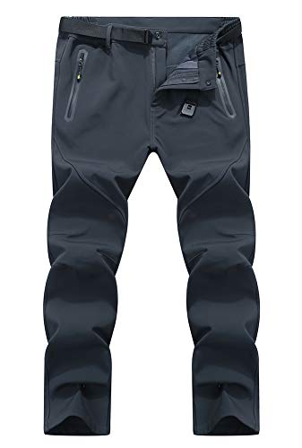 YSENTO Men's Sport Waterproof Quick Drying Breathable Warm Trousers Mountain Pants