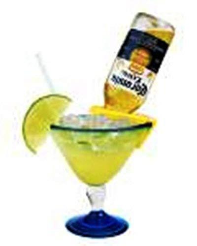 Coronarita Drink Clips - For Margarita Glasses Includes a Bonus Free Corona Bottle Opener - Pack of 4