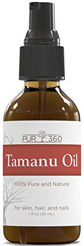 Pur360 Tamanu Oil - Pure Cold Pressed - Best Treatment for Psoriasis, Eczema, Acne Scar, Foot Fungus, Rosacea - Relief for Dry, Scaly Skin, Scalp and More (Ointment Eczema)