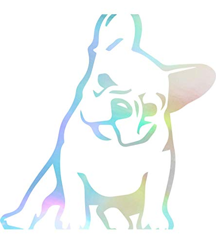French Bulldog KUTE (Hologram) (Set of 2) Premium Waterproof Vinyl Decal Stickers for Laptop Phone Accessory Helmet Car Window Bumper Mug Tuber Cup Door Wall Decoration (Hologram Cup)