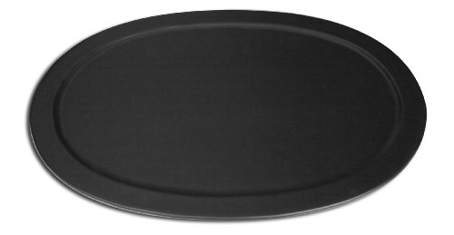 Dacasso Black Leather Serving Tray Leather Steel Table