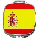 Spain Flag Mirror Compact